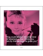 Audrey Hepburn Życiowe cytaty - plakat premium