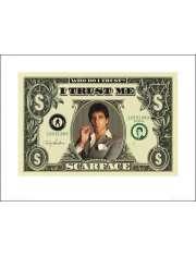Scarface Człowiek z blizną - dollar bill - plakat premium