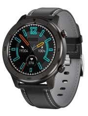 Smartwatch Garett Men 5S czarny, skórzany