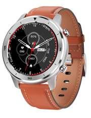 Smartwatch Garett Men 5S pomarańczowy, skórzany
