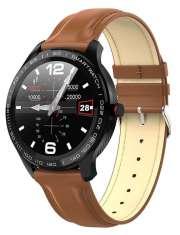 Smartwatch Garett Men 3S brązowy, skórzany