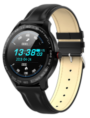 Smartwatch Garett Men 3S czarny, skórzany