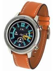 Smartwatch Garett Master RT pomarańczowy, skórzany