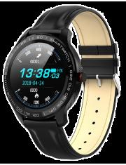 Smartwatch Garett Men 3S RT czarny, skórzany
