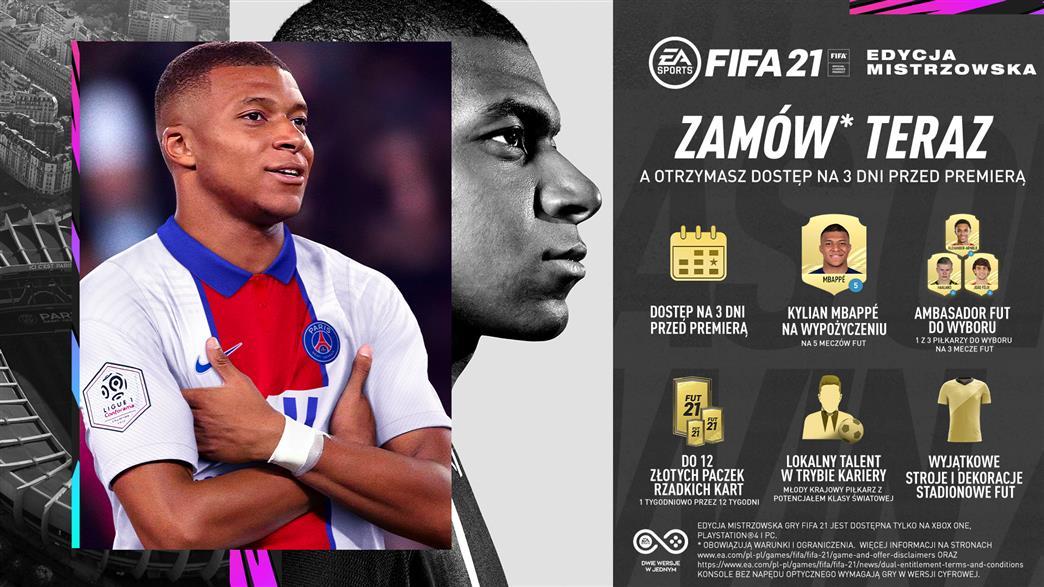Fifa 21 Wersja Mistrzowska Przedsprzedaż