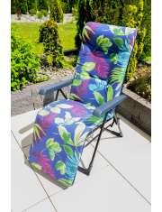 Gardenic Fotel z Podnóżkiem Bilbao Granat Liście-50991