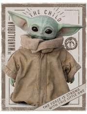 Star Wars The Mandalorian Yoda Dziecko - plakat
