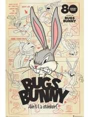 Królik Bugs 80 lat Looney Tunes - plakat