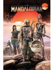 Star Wars The Mandalorian Bohaterowie - plakat