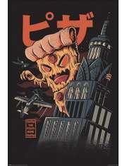 Ilustrata Pizza Kong - plakat