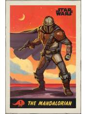 Star Wars The Mandalorian Retro - plakat