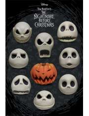 Miasteczko Halloween Nightmare Before Christmas Many Faces of Jack - plakat