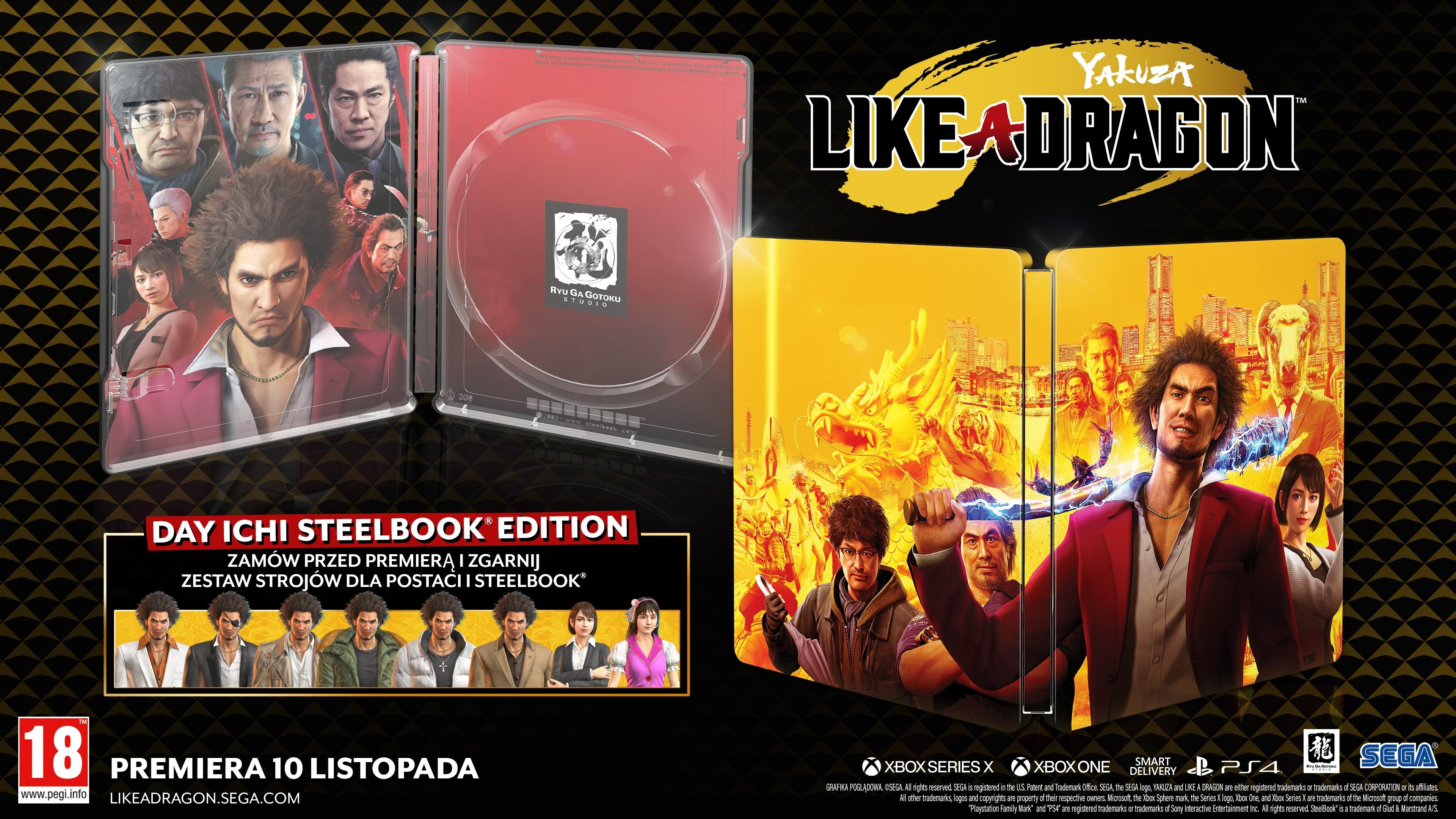 Yakuza Like A Dragon Day Ichi Steelbook Edition