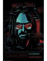Cyberpunk 2077 Samurai Wheres Johnny? - plakat