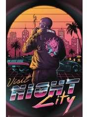 Cyberpunk 2077 Visit Night City - plakat
