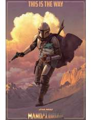 Star Wars The Mandalorian This Is The Way - plakat