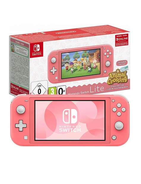 Nintendo Switch Lite Coral Animal Crossing-52745