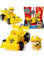 Psi Patrol Rubble z wyścigówką napęd i dźwięk żółt-53422
