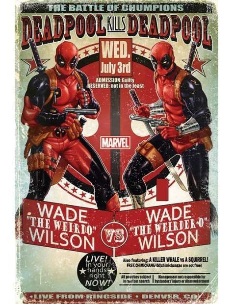 Marvel Deadpool Wade vs Wade - plakat