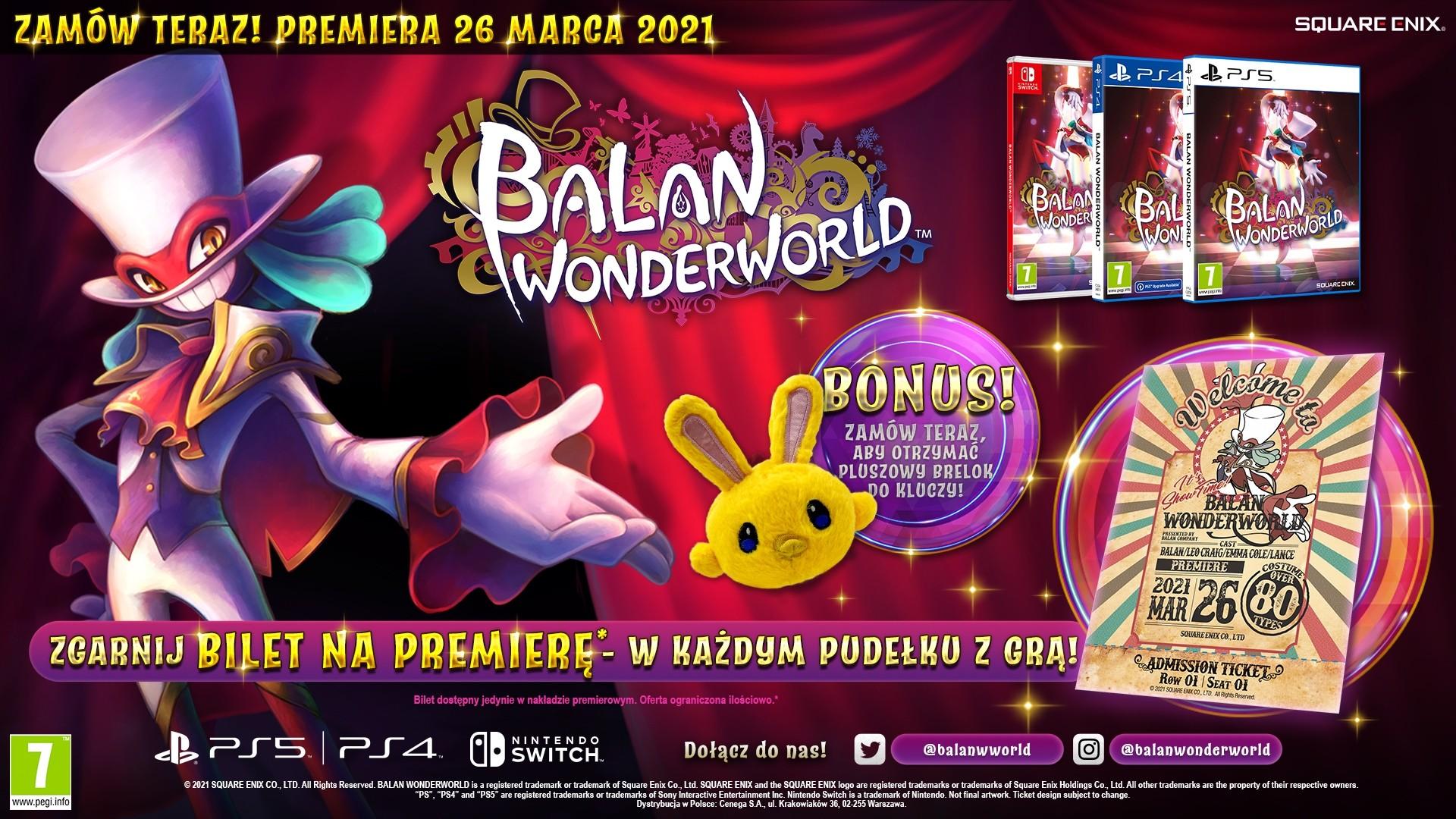 Balan Wonderworld PS5 bonus przedpremierowe