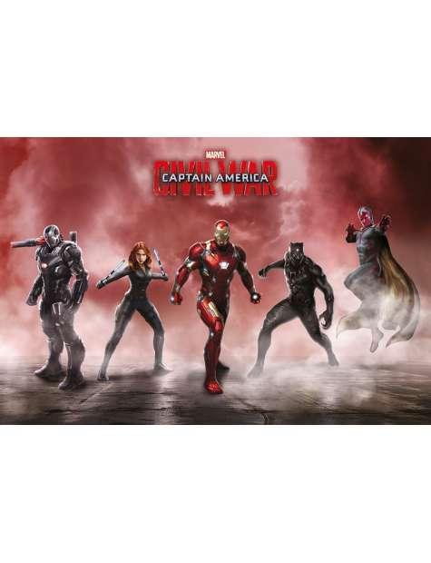 Kapitan Ameryka Wojna Bohaterów Drużyna Iron Mana - plakat