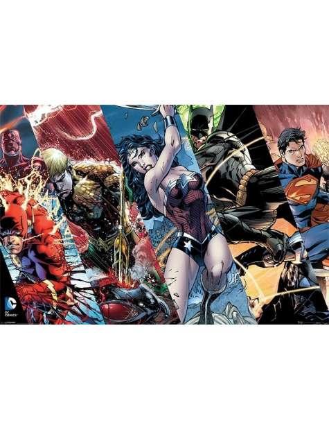 Justice League Liga Sprawiedliwości Bohaterowie - plakat