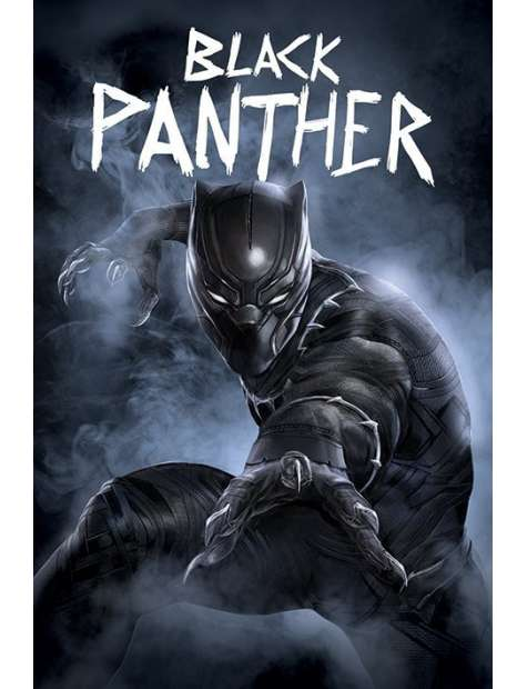 Kapitan Ameryka Wojna Bohaterów Czarna Pantera - plakat