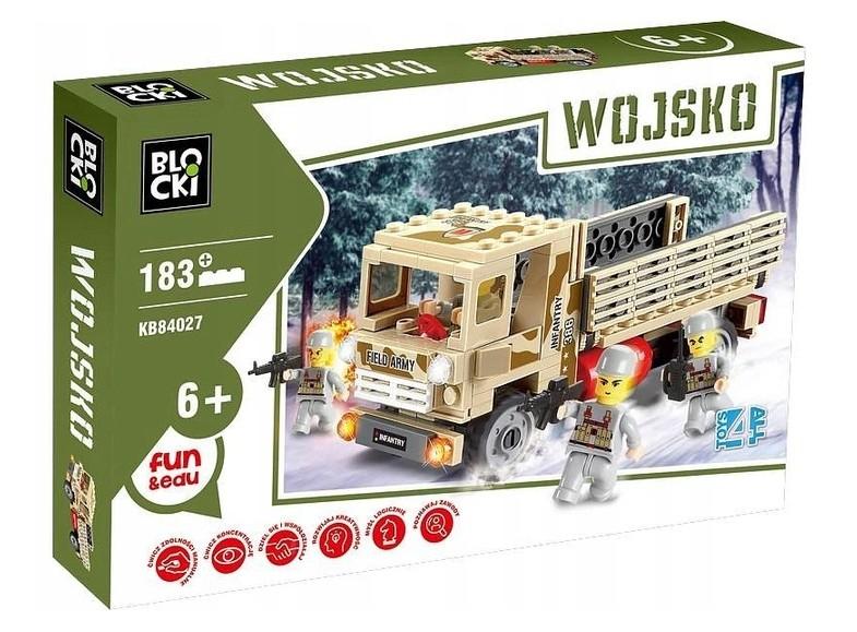 Klocki Blocki Wojsko - Armia Ciężarówka 183 Elementy