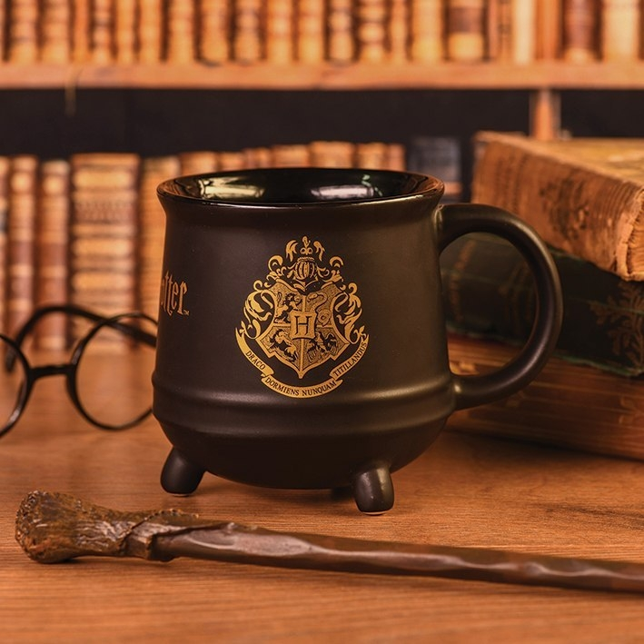 Kubek Kociołek Harry Potter Hogwarts Godło Złote