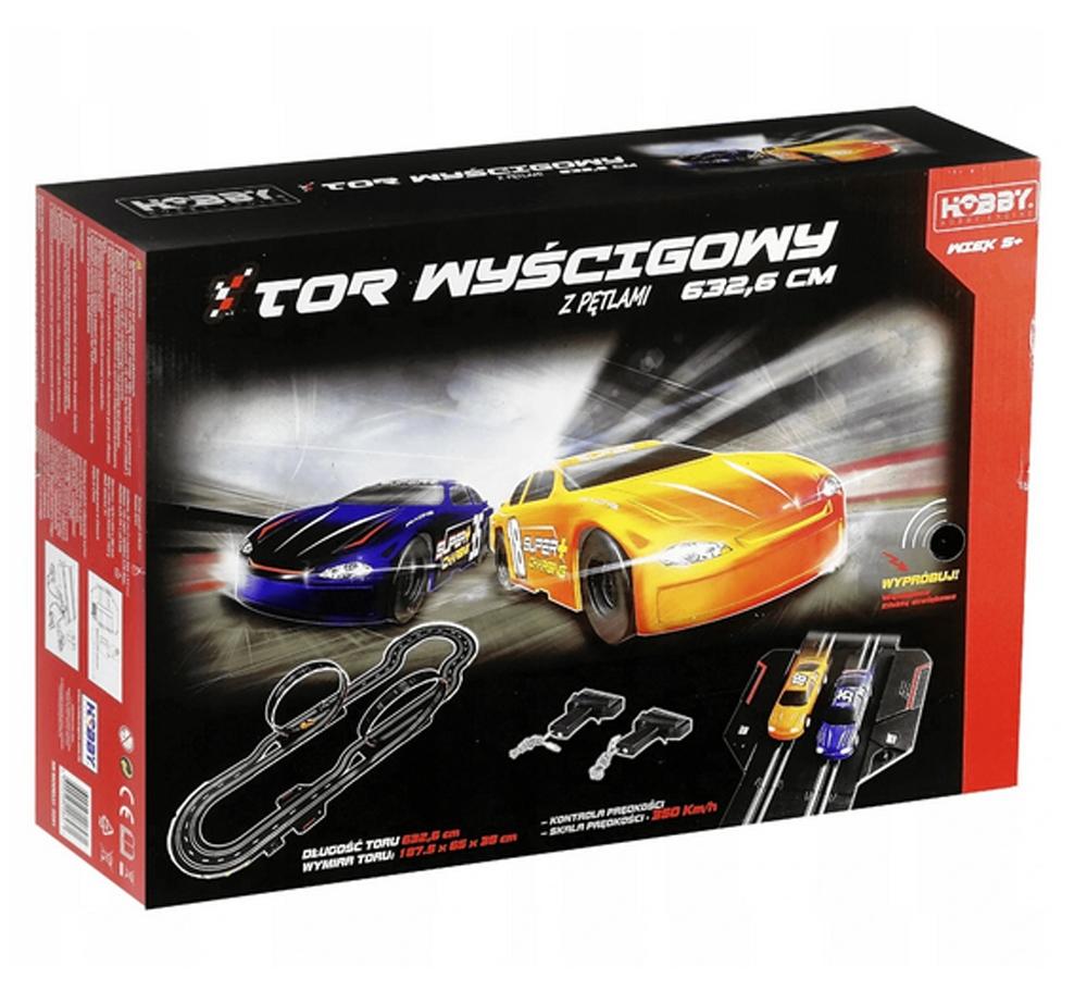 Zestaw Tor Wyścigowy Samochodowy 2 Auta