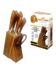 MG Home Zestaw Noży Nożyczki Drewno-55151