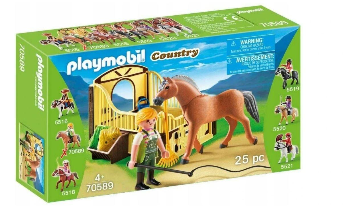 Playmobil Country 70589 Koń Fiordzki z boksem