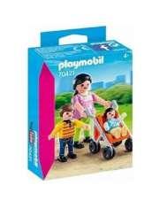 Klocki Playmobil Mama z Dziećmi i Wózek 70421-55318