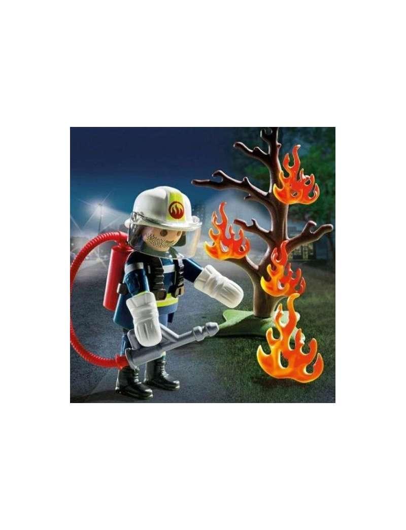 Klocki Playmobil City Life Strażak w akcji 70429