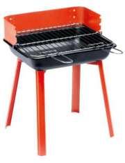 Grill węglowy prostokątny 36x30x44,5 cm Czerwony-55356