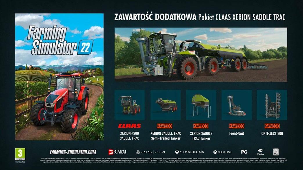 Farming Simulator 22 bonus przedpremierowy
