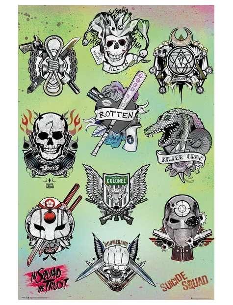 Legion Samobójców Tatuaże - plakat