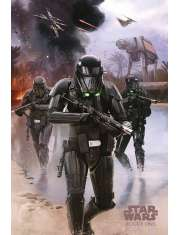 Star Wars Łotr 1. Gwiezdne Wojny Death Trooper Beach - plakat