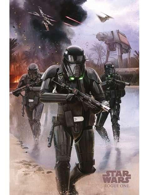 Star Wars Łotr 1. Gwiezdne Wojny Death Trooper Beach - plakat
