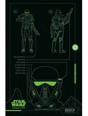 Star Wars Łotr 1. Gwiezdne Wojny Death Trooper Plans - plakat