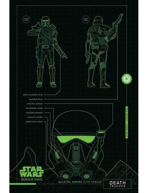 Star Wars Łotr 1. Gwiezdne Wojny Death Trooper Plans - plakat