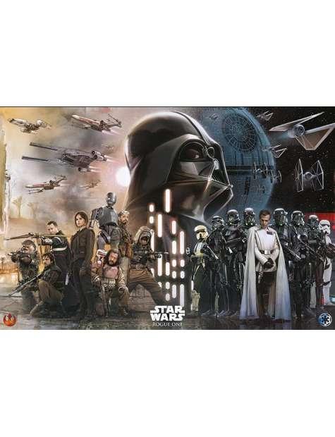 Star Wars Łotr 1. Gwiezdne Wojny Rebelianci vs Imperium - plakat
