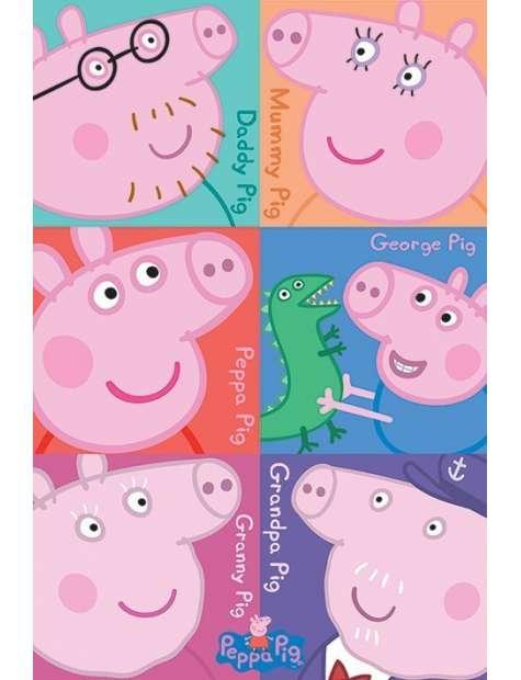 Świnka Peppa Bohaterowie - plakat