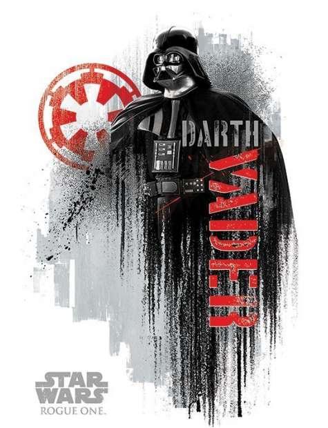 Star Wars Łotr 1. Gwiezdne Wojny Darth Vader Grunge - plakat