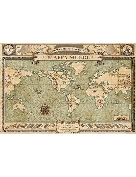 Fantastyczne zwierzęta i jak je znaleźć Mappa Mundi - plakat