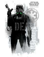 Star Wars Łotr 1. Gwiezdne Wojny Death Trooper Grunge - plakat