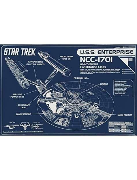 Star Trek NCC-1701 - plakat