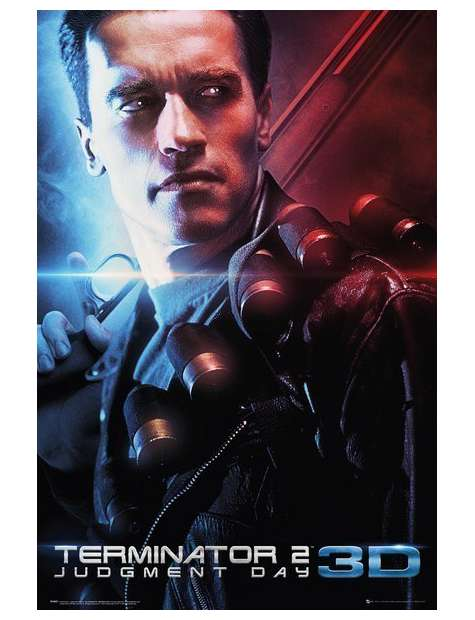 Terminator 2 3D - plakat