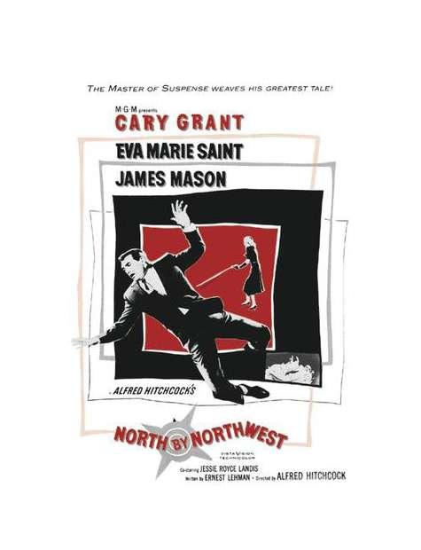 Północ - północny zachód - plakat