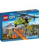 Klocki Lego City 60123 Wulkan Helikopter Dostawczy